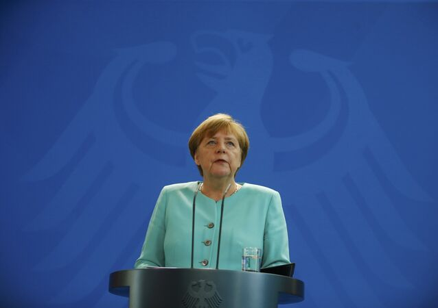 German Chancellor Angela Merkel gives a statement in Berlin, Germany, June 24, 2016, after Britain voted to leave the European Union in the EU BREXIT referendum.