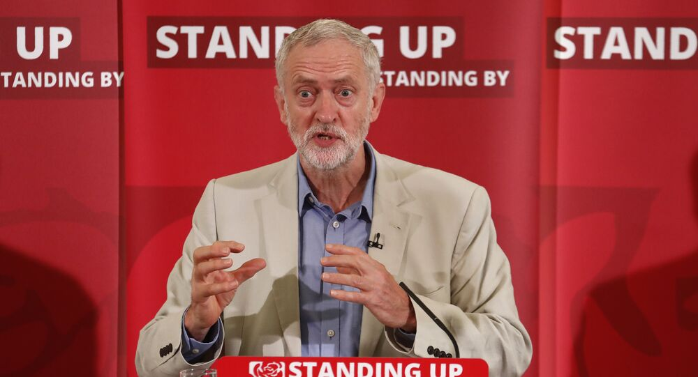 British opposition Labour Party leader Jeremy Corbyn delivers a speech following the pro-Brexit result of the UK's EU referendum vote, in central London on June 25, 2016