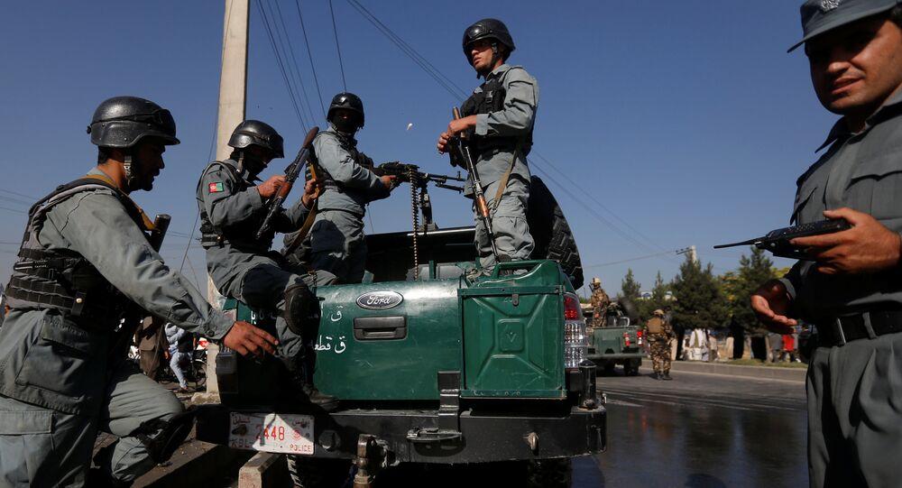 Afghan policemen. File photo