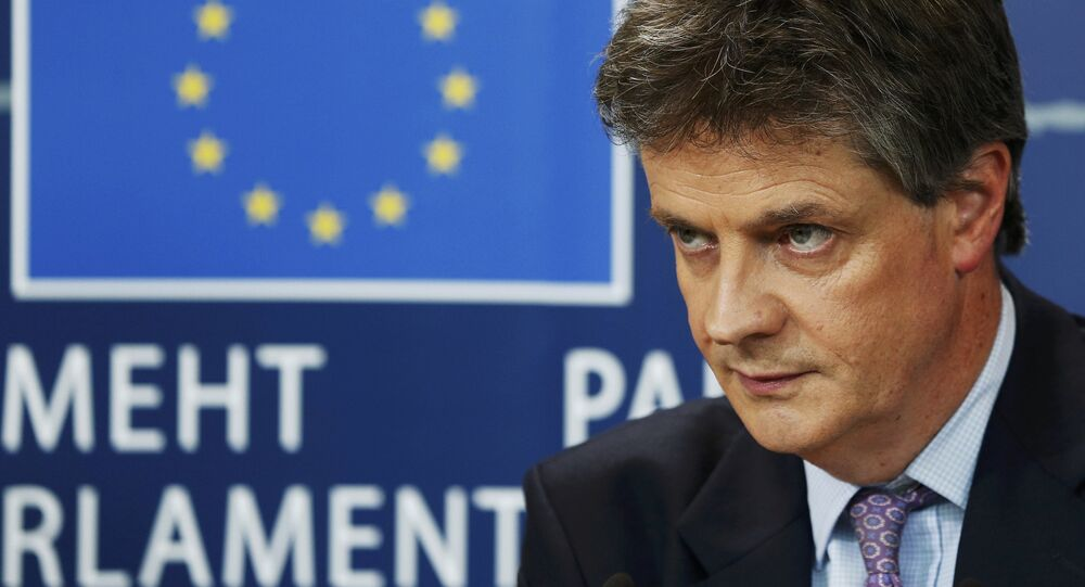 Britain's EU Commissioner Lord Jonathan Hill seen in Brussels October 7, 2014