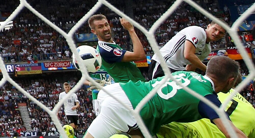Euro 2016 game between Northern Ireland and Germany at Parc des Princes, Paris, France