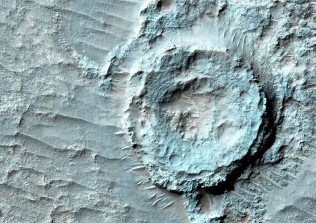 An 'inverted crater' spotted on Mars