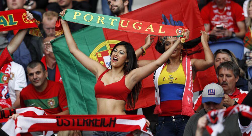 Football Soccer - Portugal v Austria - EURO 2016 - Group F - Parc des Princes, Paris, France - 18/6/16 Fans before the match