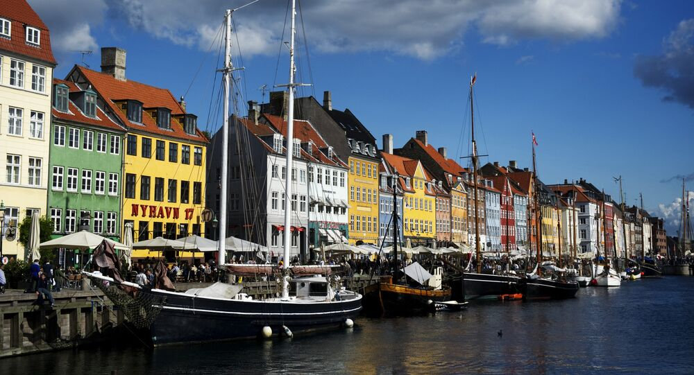 Boats are docked in a canal in Copenhagen, on September 16, 2011