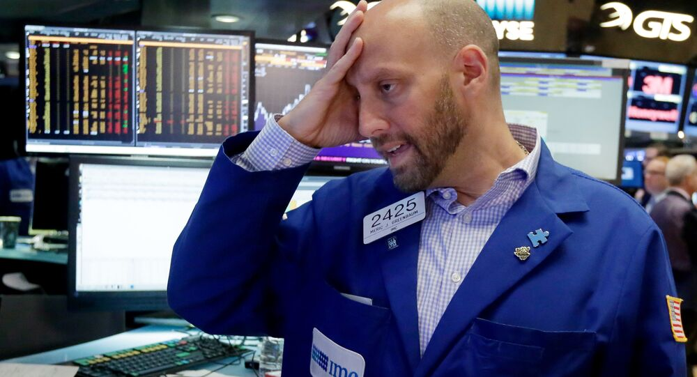 Specialist Meric Greenbaum works at his post on the floor of the New York Stock Exchange, Friday, June 24, 2016. U.S. stocks are plunging in early trading after Britons voted to leave the European Union.