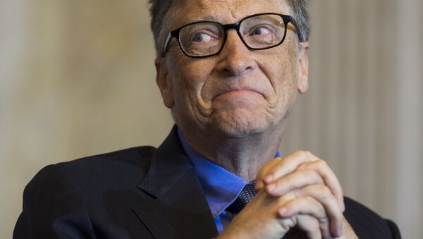 Bill Gates, co-chair of the Bill and Melinda Gates Foundation and founder of Microsoft, participates in the Financial Inclusion Forum at the Treasury Department in Washington, DC, December 1, 2015. - Sputnik International