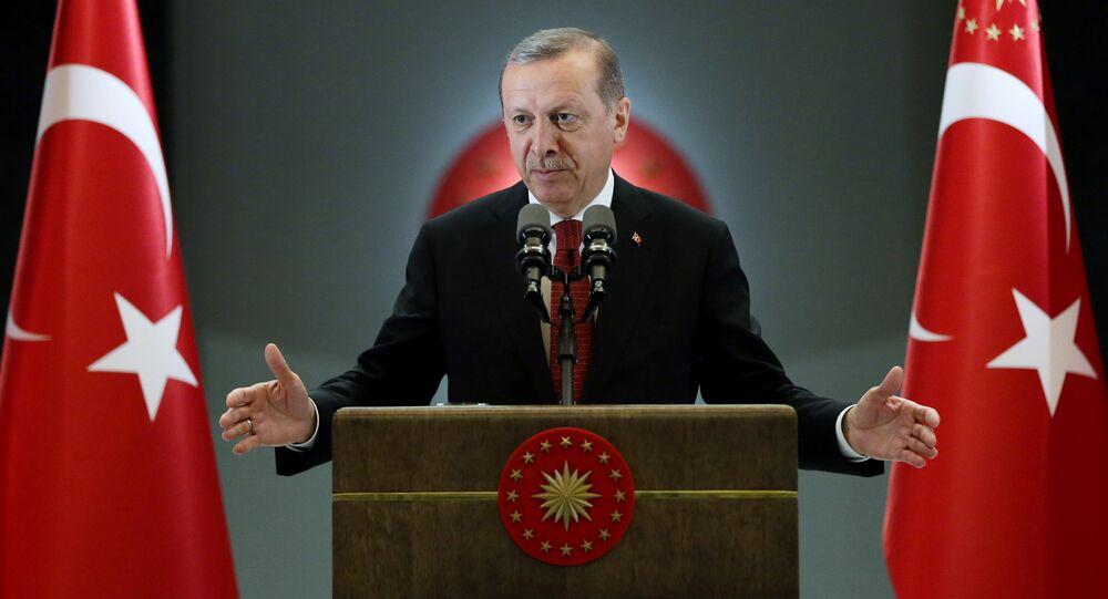 Turkish President Tayyip Erdogan makes a speech during an iftar event in Ankara, Turkey, June 27, 2016