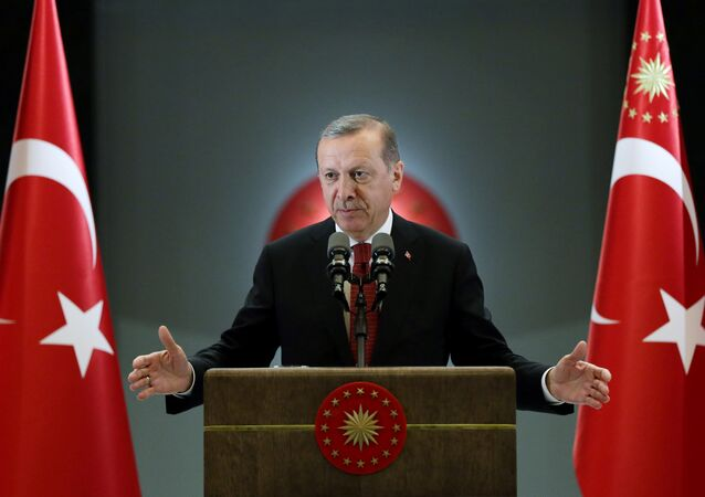 Turkish President Tayyip Erdogan makes a speech during an iftar event in Ankara, Turkey, June 27, 2016