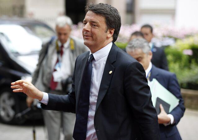 Italian Prime Minister Matteo Renzi arrives at the EU Summit in Brussels, Belgium, June 28, 2016