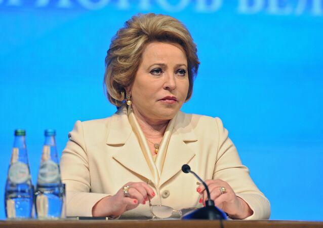 Russian Federation Council Speaker Valentina Matvienko.