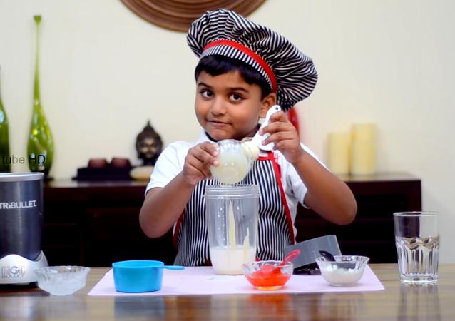 Orange Milk Shake Ikicha tube | Little chef recipe