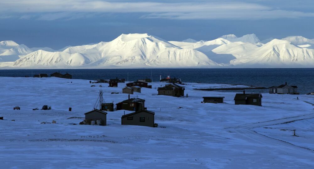A general view shows the airport of the Norwegian town of Longyearbyen