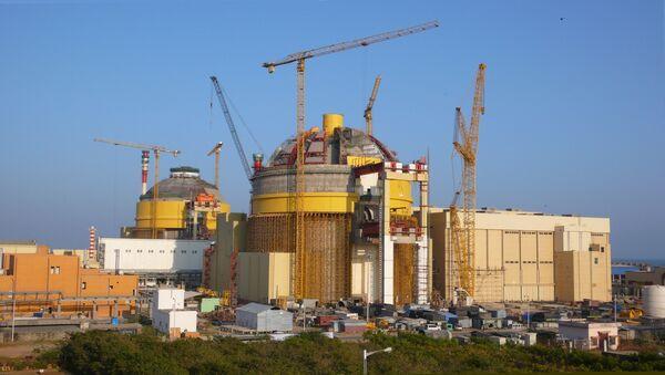 Nuclear power plants (Pressurized Water Reactors) under construction at Kudankulm, India. (File) - Sputnik International