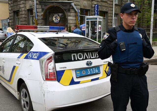 An officer of the Ukrainian police in Kiev. (File)