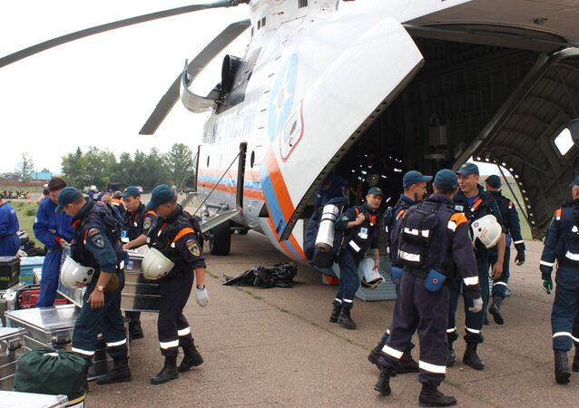 Rescuers of the Tsentrospas central aero-mobile unit and the Leader special risk rescue operations center are deployed to the alleged location of the Russian Emergencies Ministry Il-76 plane which went missing in the Irkutsk Region