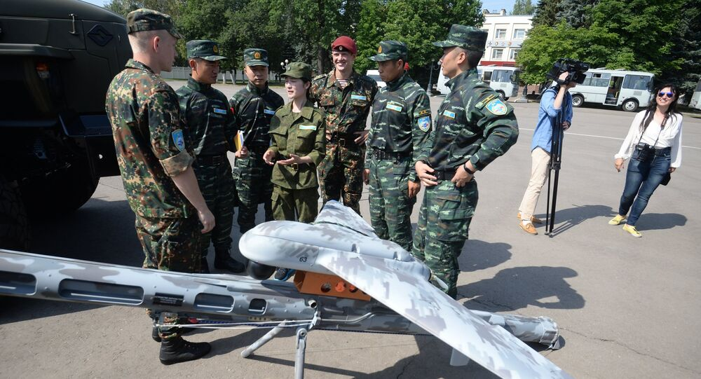 The opening of the Cooperation-2016 joint exercises of the Spetsnaz of the Russian National Guard and the Chinese People's Armed Police