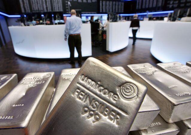 Silver bullions, weighing five kilograms each (File)