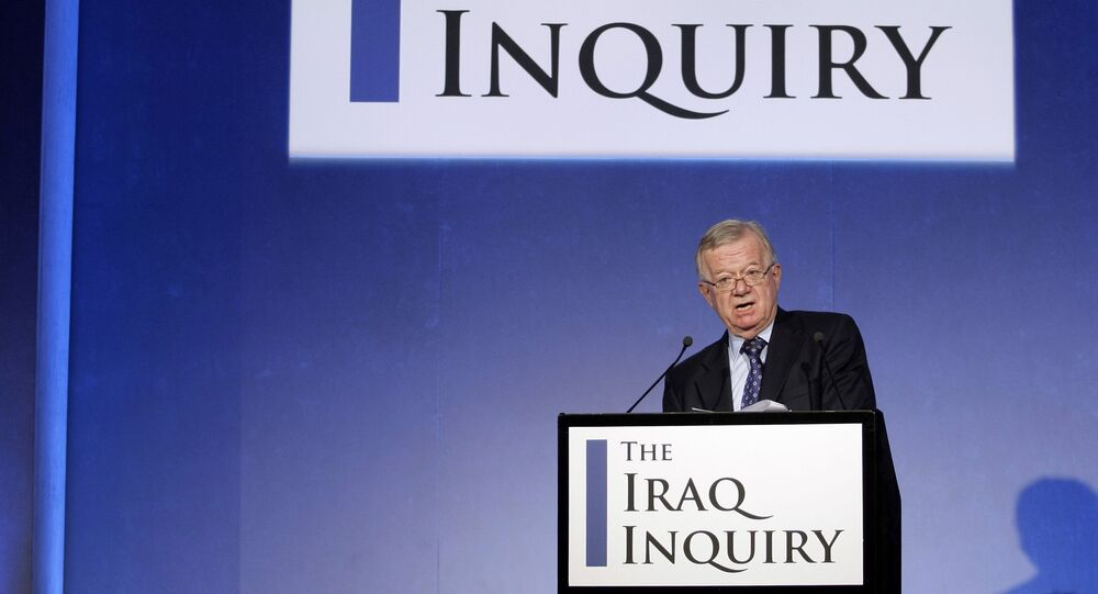 John Chilcot, the chairman of the Iraq Inquiry, outlines the terms of reference for the inquiry and explains the panel's approach to its work during a news conference to launch it at the QEII conference centre in London, Thursday, July 30, 2009. T