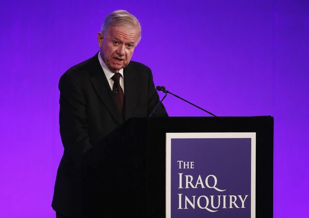 Iraq Inquiry chairman Sir John Chilcot speaks as he comments on the findings of his report, inside the QEII Centre in London on July 6, 2016