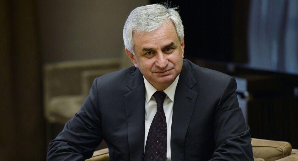 President of Abkhazia Raul Khajimba  (File)