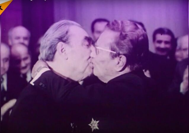 'The Triple Brezhnev': A Legendary Kiss