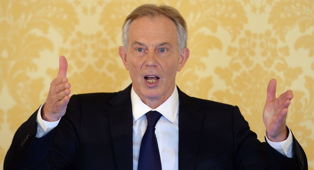 Former Prime Minister Tony Blair speaks during a news conference in London on July 6, 2016, following the outcome of the Iraq Inquiry report