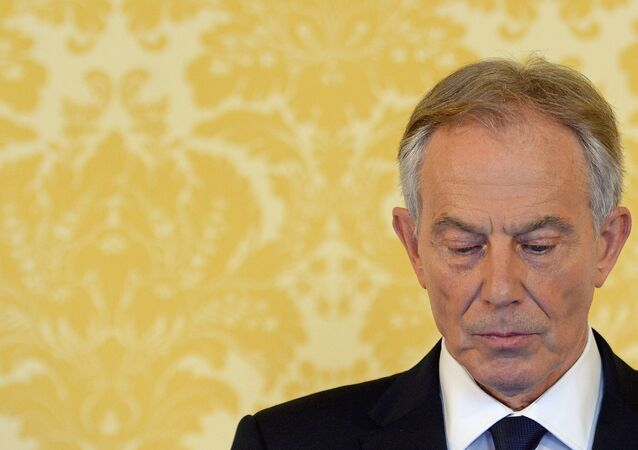 Former Prime Minister Tony Blair speaks during a news conference in London on July 6, 2016, following the outcome of the Iraq Inquiry report.