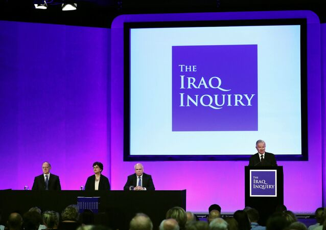 Sir John Chilcot presents The Iraq Inquiry Report at the Queen Elizabeth II Centre in Westminster, London, Britain July 6, 2016.