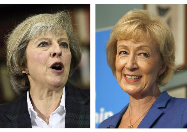 Theresa May (L) and Andrea Leadsom, are seen in this combination of two photographs, released in London, Britain July 7, 2016.