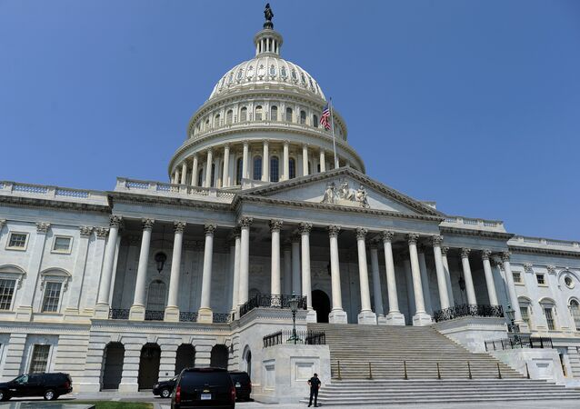 The US Capitol building is pictured in Washington, DC
