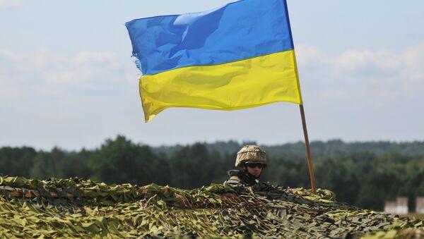 A Ukrainian soldier - Sputnik International