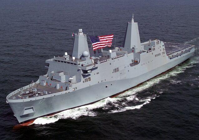 US amphibious transport dock ship San Antonio