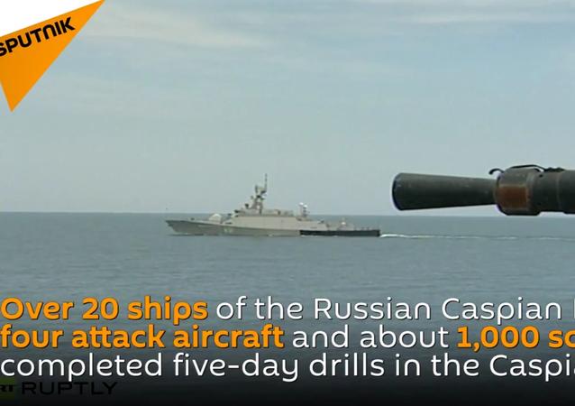 Military Drills in Caspian Sea