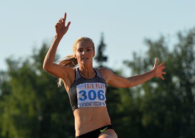 Russian long jump athlete Darya Klishina