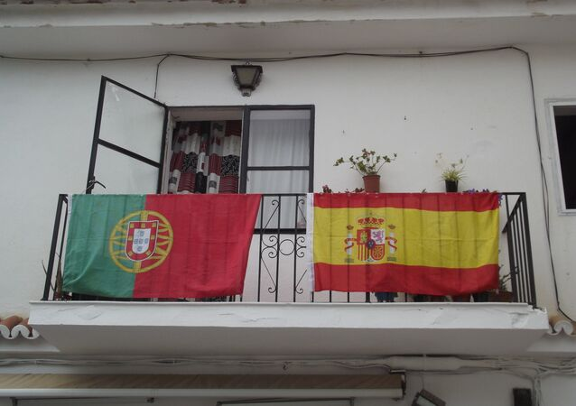 Portugal and Spain flags