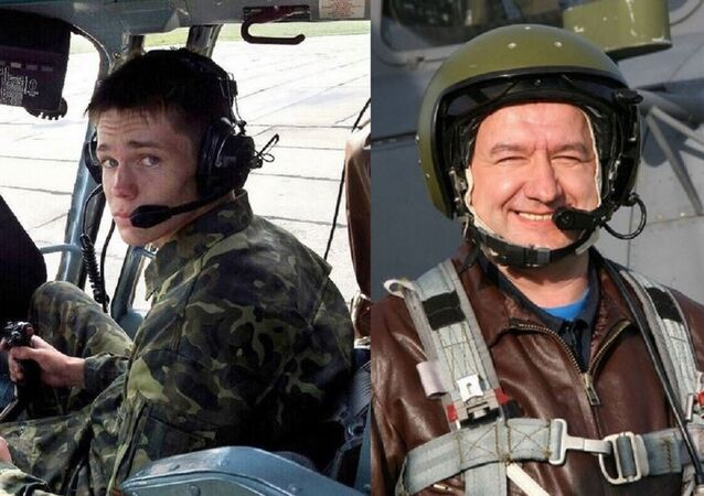 Lieutenant Yevgeny Dolgin (l) and Colonel Ryafagat Khabibulin (r), Russian helicopter pilots killed defending Syrian army positions against Daesh terrorists.