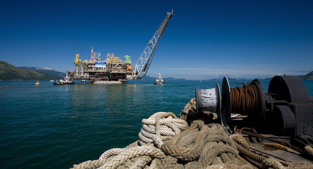 Partial view of the Petrobras P-51 semi-submersible off-shore oil platform construction site at the Brasfelf shipyard in Angra dos Reis (File)