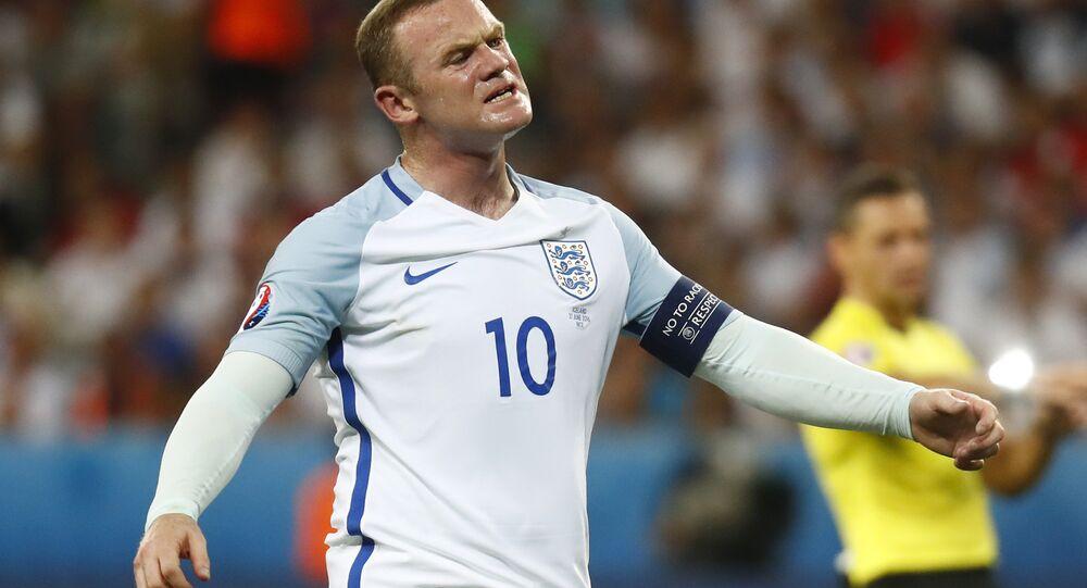 Football Soccer - England v Iceland - EURO 2016 - Round of 16 - Stade de Nice, Nice, France - 27/6/16 England's Wayne Rooney reacts