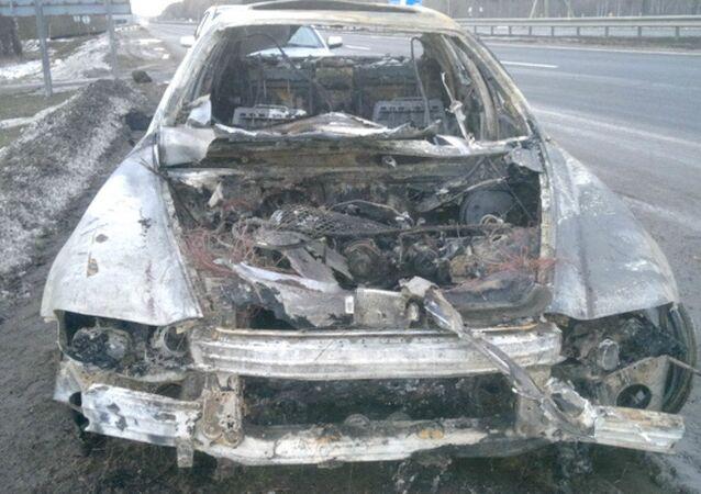 Torched Maserati Quattroporte