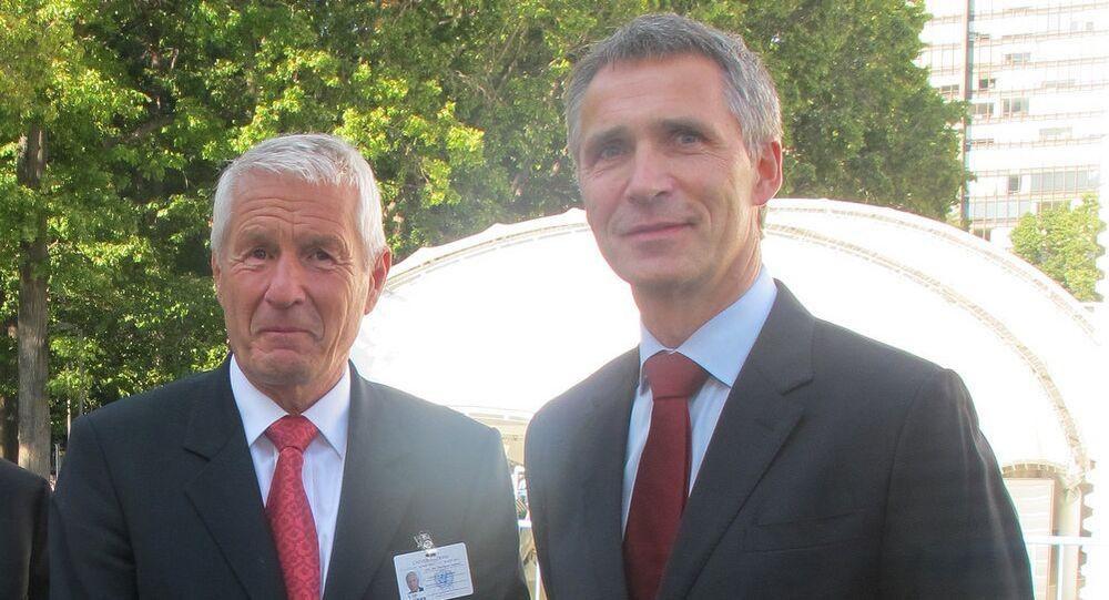 Secretary General of Council of Europe Thorbjørn Jagland and Prime Minister Jens Stoltenberg