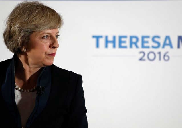 Theresa May speaks during her Conservative party leadership campaign at the Institute of Engineering and Technology in Birmingham, England, Britain July 11, 2016.