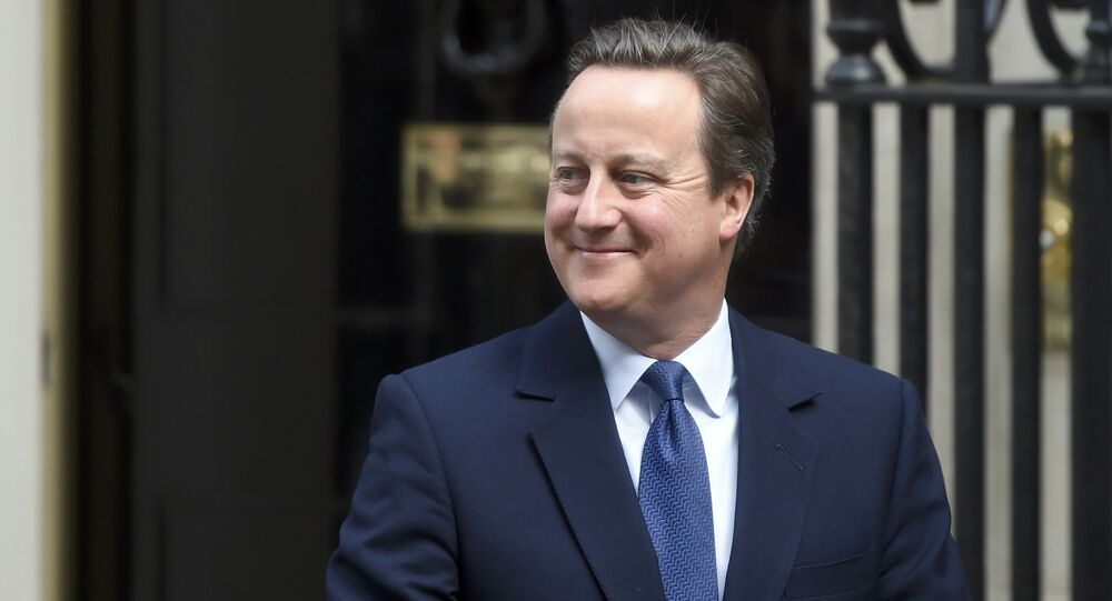 Britain's Prime Minister, David Cameron, leaves number 10 Downing Street for his last Prime Minister's Questions in the House of Commons, on his last day in office as Prime Minister, in central London, Britain July 13, 2016.