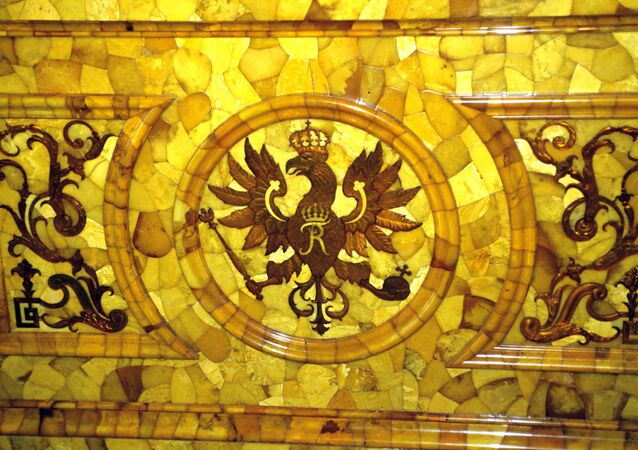 A fragment of the Amber Room
