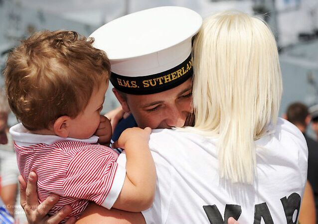 A Royal Navy Sailor is Reunited with His Family