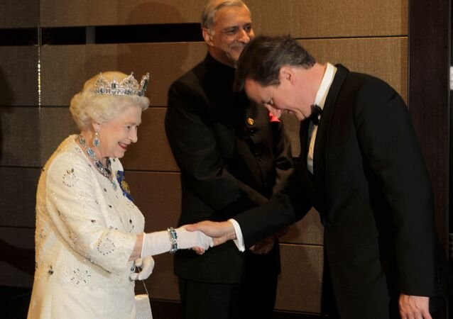 Britain's Queen Elizabeth II and David Cameron (File)