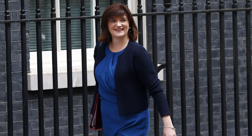 Britain's Education Secretary Nicky Morgan arrives for a cabinet meeting at number 10 Downing Street, in central London, Britain July 12, 2016