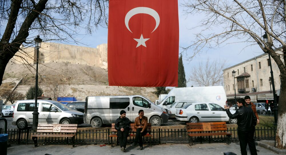 A Turkish flag in Gaziantep, southern Turkey (File)