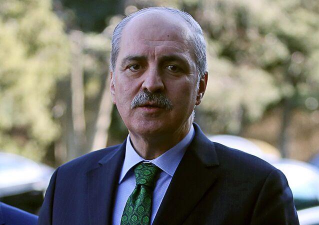 Turkish Deputy Prime Minister Numan Kurtulmus (File)