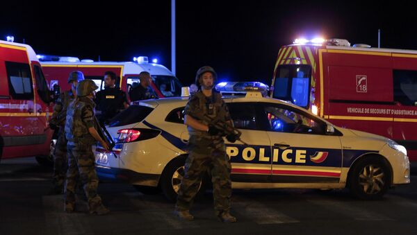 French soldiers and rescue forces in Nice, France, July 14, 2016. - Sputnik International