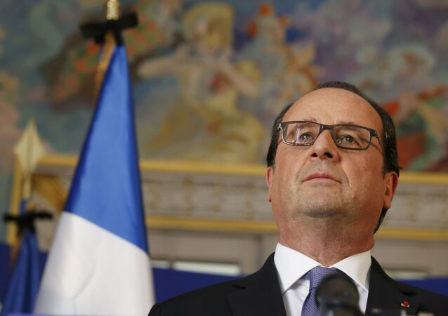 French President Francois Hollande speaks to journalists at the Prefectoral Palace the day after the Bastille Day truck attack, in Nice, France, July 15, 2016.